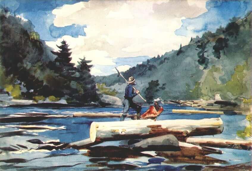 Winslow homer paintings for Hudson log