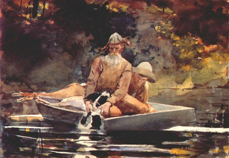 After the Hunt - by Winslow Homer