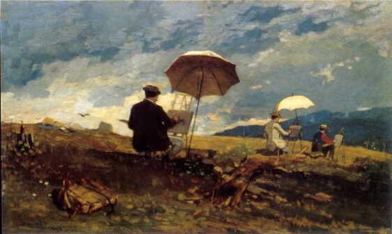 Artists Sketching in the White Mountains - by Winslow Homer