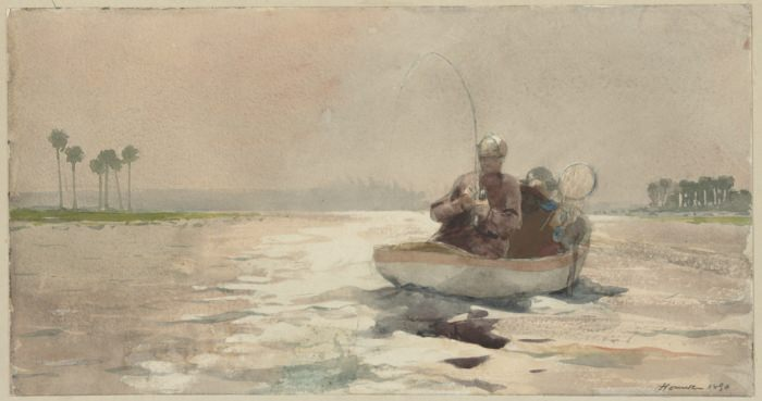 Bass Fishing Florida - by Winslow Homer