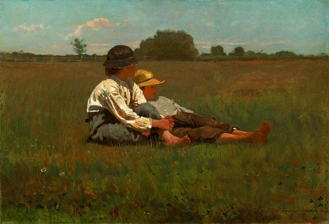 boys-in-a-pasture, 1874 by Winslow Homer