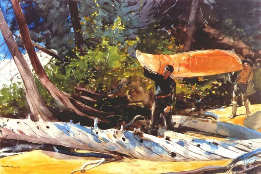 End of the Portage - by Winslow Homer