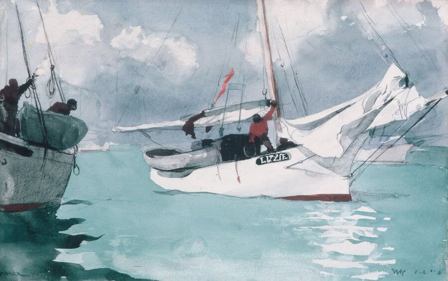 Fishing Boats, Key West, 1903 - by Winslow Homer