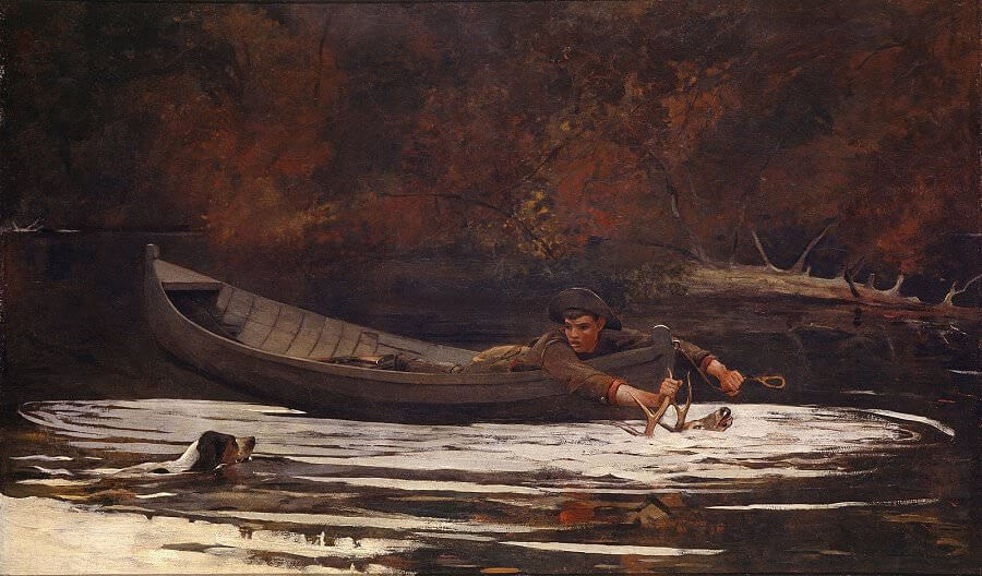 Hound and Hunter, 1892 by Winslow Homer