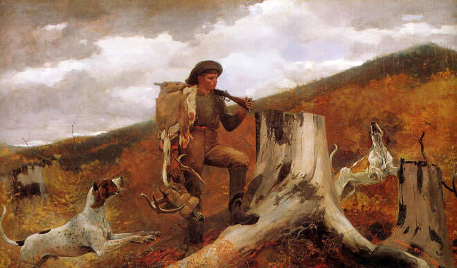 Huntsman and Dogs, 1891 by Winslow Homer