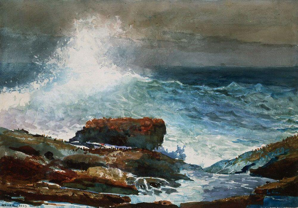 Incoming Tide, Scarboro Maine, 1883 by Winslow Homer