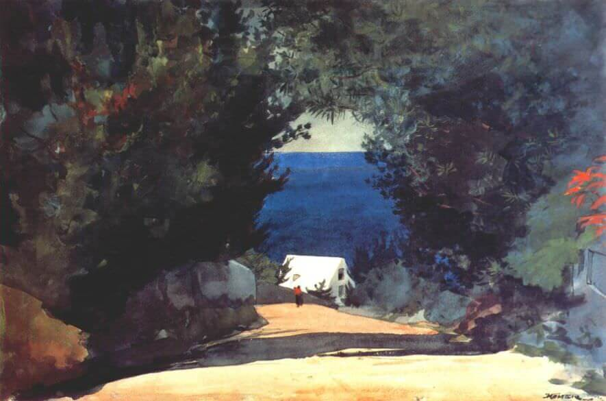 Road in Bermuda - by Winslow Homer