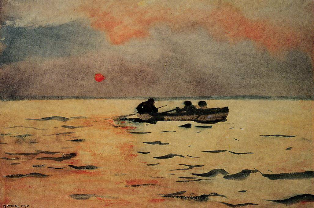 Rowing Home, 1890 by Winslow Homer