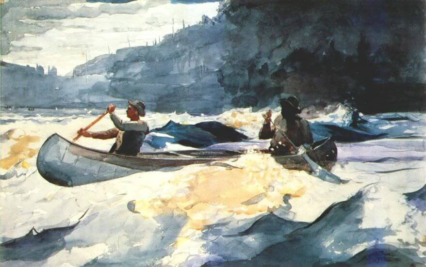 Shooting the Rapids - by Winslow Homer