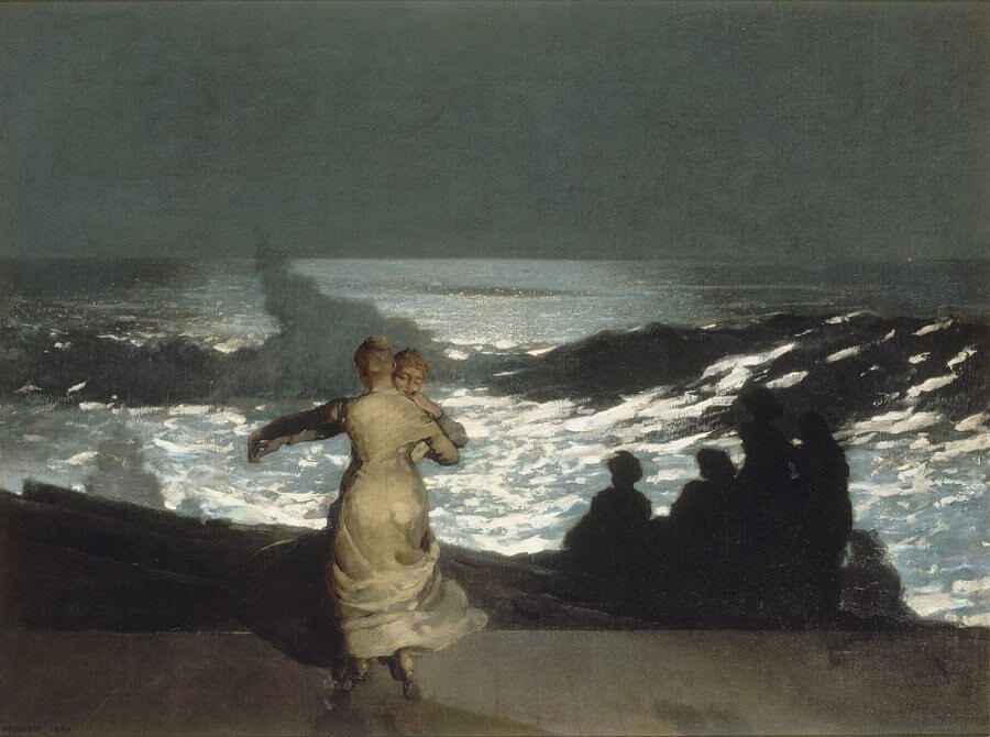 Summer-Night - by Winslow Homer
