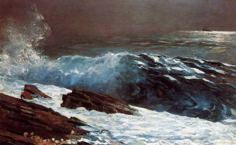 Sunlight on the Coast - by Winslow Homer