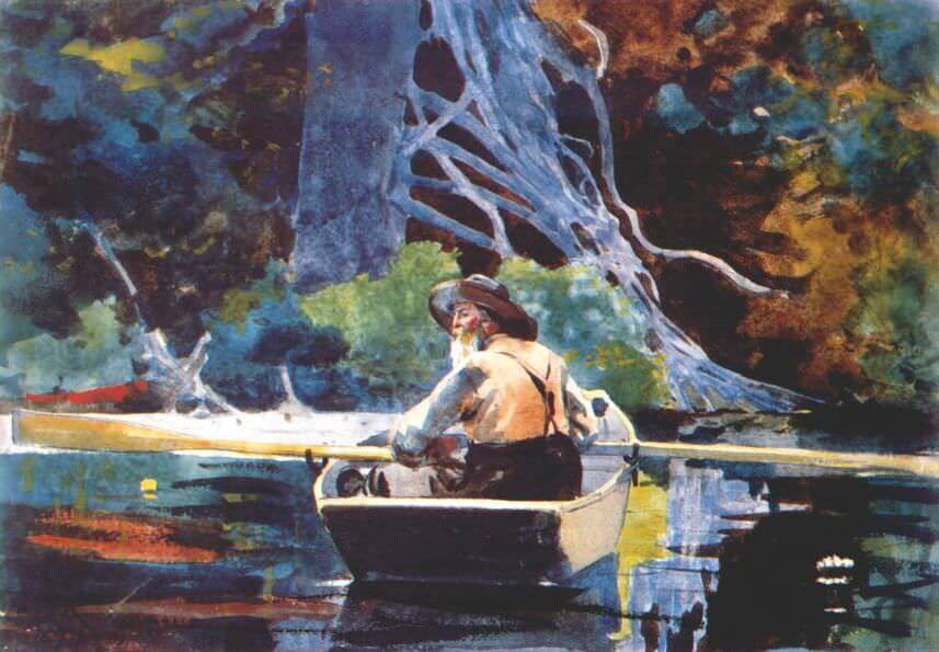 The Adirondack Guide - by Winslow Homer
