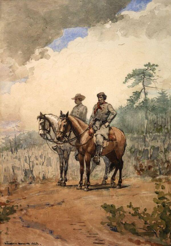 Two Scouts - by Winslow Homer