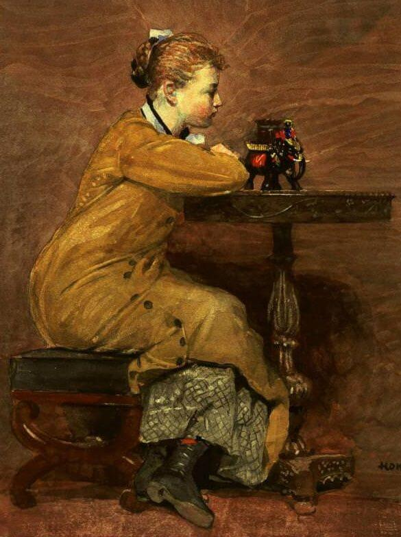 Woman and Elephant - by Winslow Homer