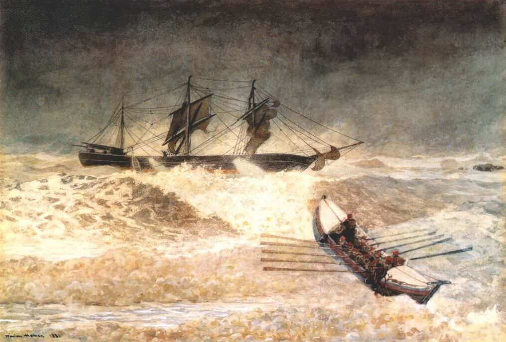 Wreck of the Iron Crown, 1881 by Winslow Homer